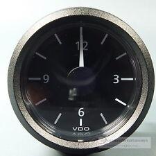 VDO reloj de cuarzo-reloj-clock auto + azul marino 12v Front anillo negro tres Kant