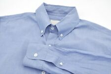 Band of Outsiders Solid Blue Made in USA Button Down Cotton Shirt - Medium
