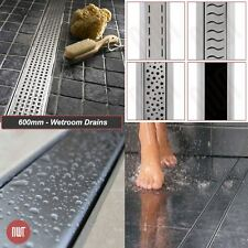 """600mm """"Rectangular"""" Stainless Steel Shower Wetroom Drainage Gully (13 Designs)"""