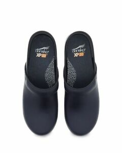 Womens Dansko XP 2.0 Navy Waterproof Leather Professional Clog 3950730202 38-39