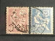 SCOTTS #135-136 1902 FRANCE STAMPS USED