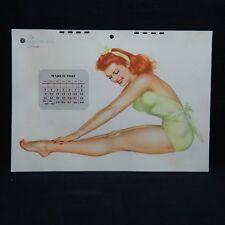 MARCH 1947 ORIGINAL THE ESQUIRE GIRL CALENDAR PAGE (#5#8)