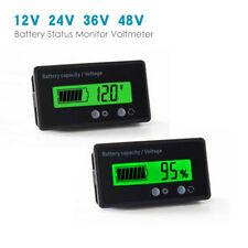 12V LCD Blei Säure Batterie Anzeige Batterien Kapazität Tester Spannung meter DE