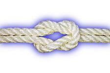 6mm Polyester-Seil 3-schäftig gedreht 554kg 10m weiß Festmacher Ankerleine PES