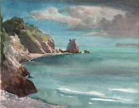 GEORGE GRAINGER SMITH 1892-1961 Watercolour Painting BEACON COVE TORQUAY 1927