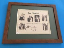 Jack Nicklaus Masters GOLF Signed Auto 8x10 PHOTO PSA/DNA COA Matted & Framed