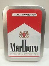 Marlboro Red Retro Advertising Brand Cigarette Tobacco Storage 2oz Hinged Tin