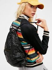 NEW ANTHROPOLOGIE FREE PEOPLE GRANBY BLACK LEATHER BACKPACK