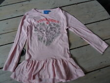 T-shirt Tunique rose chiné imprimé flocons La Reine des Neiges DISNEY T 5 ans