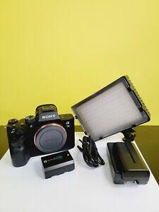 Sony Alpha A7 III 24.2MP Mirrorless Digital Camera - Black (Body Only) + Light