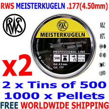 RWS MEISTERKUGELN .177 4.50mm Airgun Pellets 2 (tins)x500pcs (10m RIFLE) 0,53g