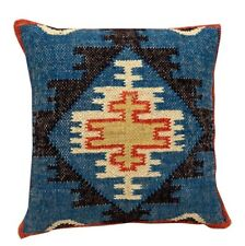 4 set of Wool Jute Cushion Cover Throw Indian Vintage Handmade Kilim Rug Pillows