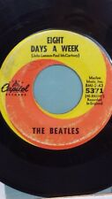"""BEATLES 45 RPM """"Eight Days a Week"""" """"I Don't Want to Spoil the Party"""" VG- cond."""