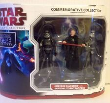Star Wars Commemorative Collection of EMPEROR PALPATINE, 2 SHADOW STORMTROOPERS