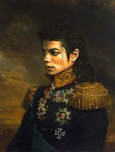 "YA1501 Hand-painted portrait oil painting Michael Jackson Unframed 36"""