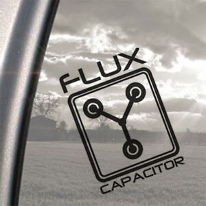 Back to the Future, Flux Capacitor, window, car, laptop, wall Vinyl Sticker
