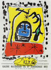 JOAN MIRO POSTER ART (PRINT) PAINTINGS SCULPTURES MATARASSO GALLERY  NICE FRANCE