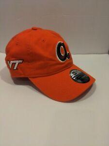 Brand New Virginia Tech HokiesAtlanta Braves Official hat SunTrust orange VT