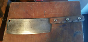 Antique Meat Cleaver I. Wlison Sycamore St. Sheffield. Rare old tool