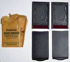 Voigtlander lot (x2) Ancienne Plaque Chassis Porte Film Appareil Photo Plan film