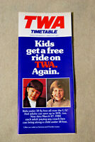 TWA Timetable - March 1 - March 31, 1980