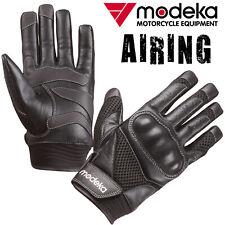MODEKA Motorradhandschuhe AIRING Sommer Leder Mesh vorgeformte Finger 11 / XXL