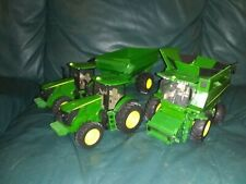 John Deere Tractor Farm Toys with Tractors with Trailers Lot in great condition