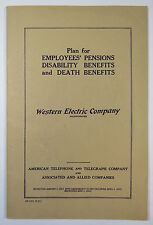 Western Electric Plan for Employees Pensions Disability Death Benefits 1941