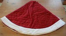 "Pottery Barn Velvet Tree Skirt Red With Ivory Small 45"""