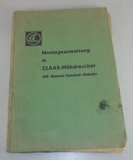 Handbook Claas Combine Harvester Sfb / Matador/Matador Standard