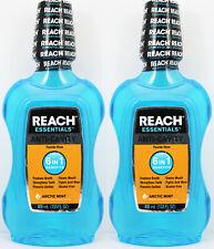 2 Reach Essentials Anti-Cavity Fluoride 6 in1 Mouthwash Rinse Arctic Mint 8/20