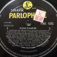 Beatles UK Please Please Me Decca Pressing w KT Stamp On label. EX LP and Cover