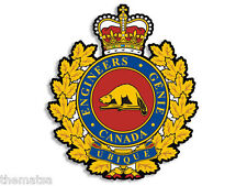 "CANADIAN CANADA ENGINEERING BRANCH ARMY 4"" HELMET BUMPER DECAL STICKER USA MADE"