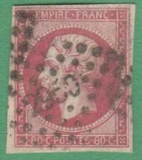 France #19 used 80c lake imperf King 1854 cv $40