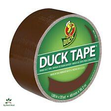 New listing Dark Brown Duck Tape Quick Fix Crafting Duct 20 Yards Repair For Metal Vinyl .