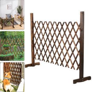 Expanding Wooden Fence Trellis Freestanding Garden Screen Divider Portable