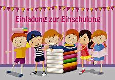 12 Einladungskarten Einschulung   Einladung Schulanfang   A6