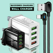 USB Plug Fast Charger Multi Quick Charging 3.0 Wall Charge UK 4-Port Adapters