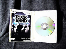 Rock Band (Complete in Case)  (Wii, 2008) Very Good Used Condition
