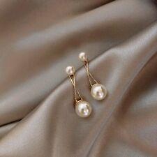 Fashion 925 Silver Pearl Earrings Ear Stud Dangle Drop Elegant Women Wedding Hot