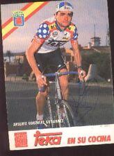 ARSENIO GONZALEZ GUTIERREZ cyclisme Signée TEKA 70s autographe cycling ciclismo