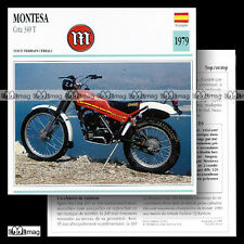 #034.10 MONTESA COTA 349 T Trial 1979 Fiche Moto Motorcycle Card