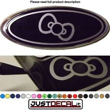 5x2 BOWTIE overlay decal logo sticker kitty bow hello FITS specific ford emblems