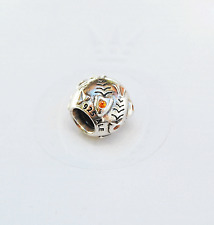 Genuine Pandora Charm Fish Bone (Skeleton) with Orange cz Crystal 790426OCZ