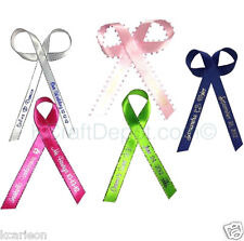 """250 Personalized Ribbons 1/4"""" or 3/8"""" Wedding Birthday Party Baby Shower Favors"""