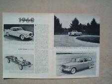 1960 Studebaker *Original Vintage 2 Page Article*