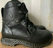 Genuine British Army Mens HAIX Combat High Liability Boots Black Leather