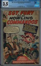 CGC 3.5 SGT FURY AND HIS HOWLING COMMANDOS #1 1ST APP NICK FURY 1963 OW/W PAGES