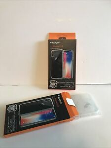 2 SPIGEN Ultra Hybrid Protective Case For iPhone Xs (2018) / X (2017) Clear New