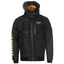 Everlast Fur Zip Jacket Mens Coat Top Full Length Sleeve Hooded Size M